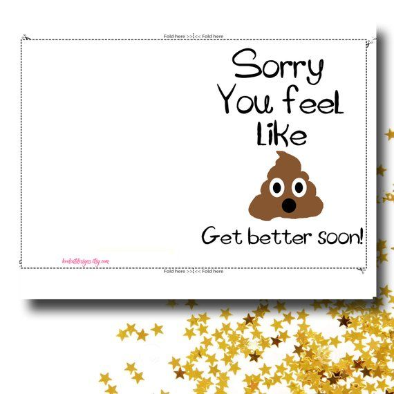 graphic about Get Well Card Printable referred to as Receive properly card - Humorous take effectively before long card - PRINTABLE CARD