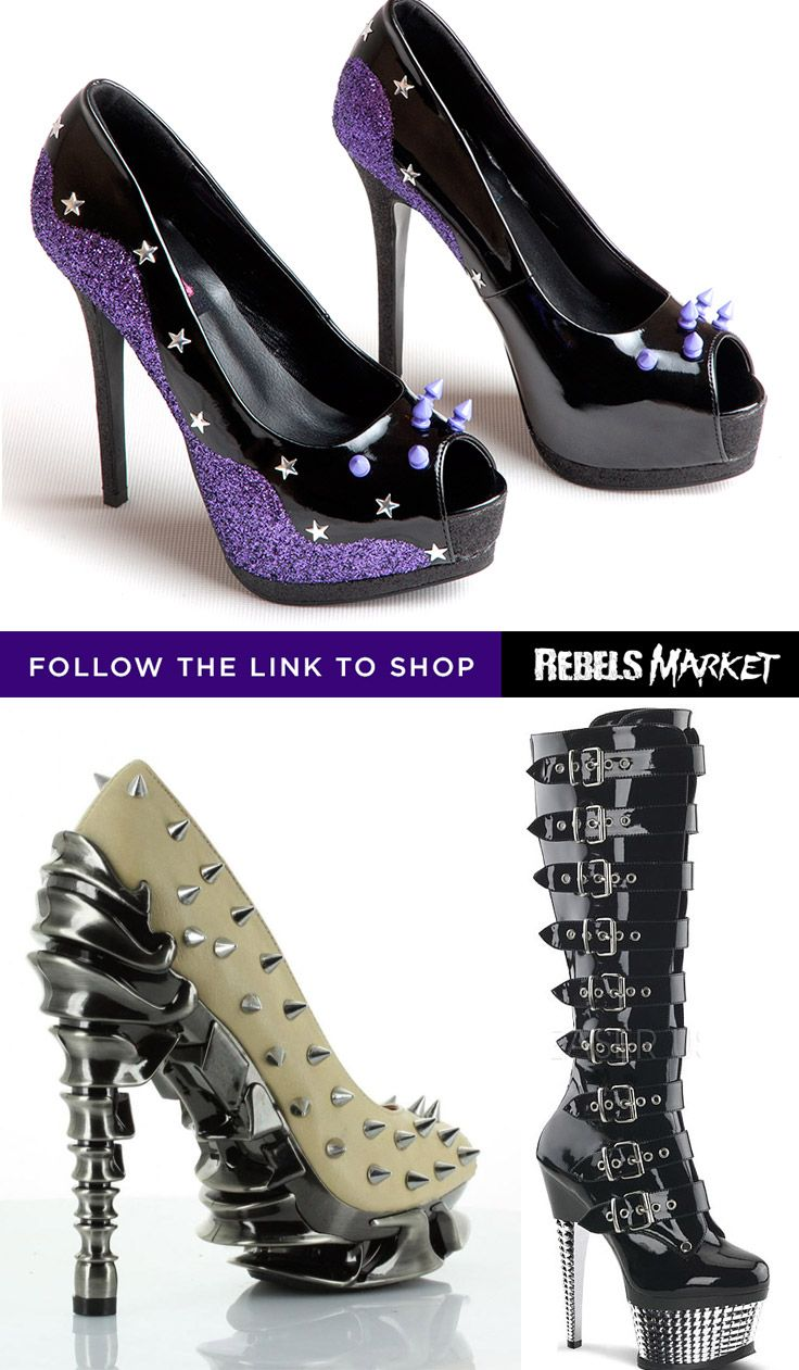 Shop goth spikes heels online at RebelsMarket.