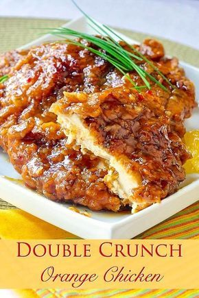 Double Crunch Orange Chicken - This very inviting crispy orange chicken recipe is an outstanding variation of our Double Crunch Honey Garlic Chicken recipe.
