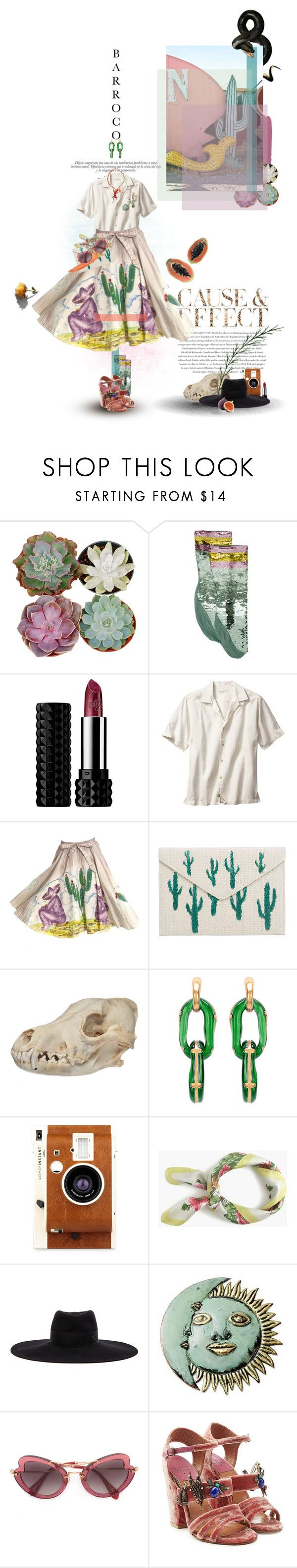 """Lashes out when threatened, or offended. Same thing."" by ducktape ❤ liked on Polyvore featuring Gucci, Envi:, Kat Von D, MANGO, Oscar de la Renta, LØMO, J.Crew, Chanel, Maison Michel and NOVICA"