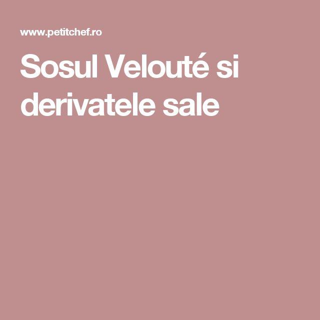 Sosul Velouté si derivatele sale