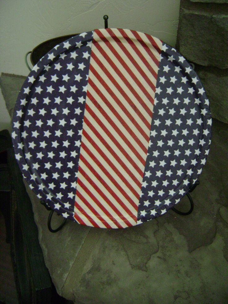 Mod Podge 4th of July platters Quick and easy craft