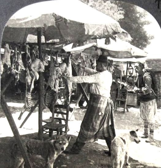 Istanbul meat seller 1900