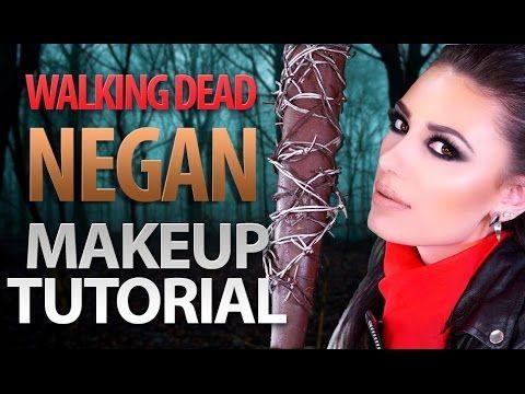 ❤️ The Walking Dead Season 7 Negan Halloween Makeup Tutorial   Victoria Lyn Beauty - YouTube