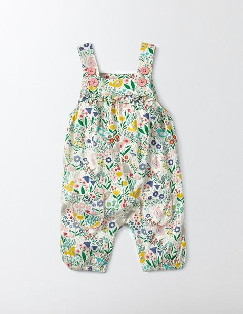 Little crawlers will love our printed dungarees. Made with a sueded finish, this jersey is extra-soft and cosy, but tough enough to withstand lots of wriggling along the floor. Our fun style with front pockets and handy two-button fastening is great as the days start to warm up.