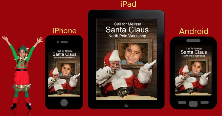 AMAZE your child with a personalized phone call from Santa. FREE app for iPhone or Android.