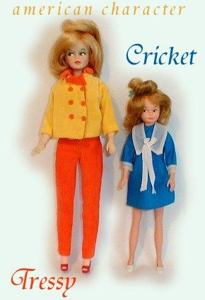 push a botton on their back and their hair grew out the top of their heads. i loved my tressy doll.