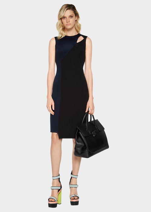 Satin Cut-Out Asymmetric Dress
