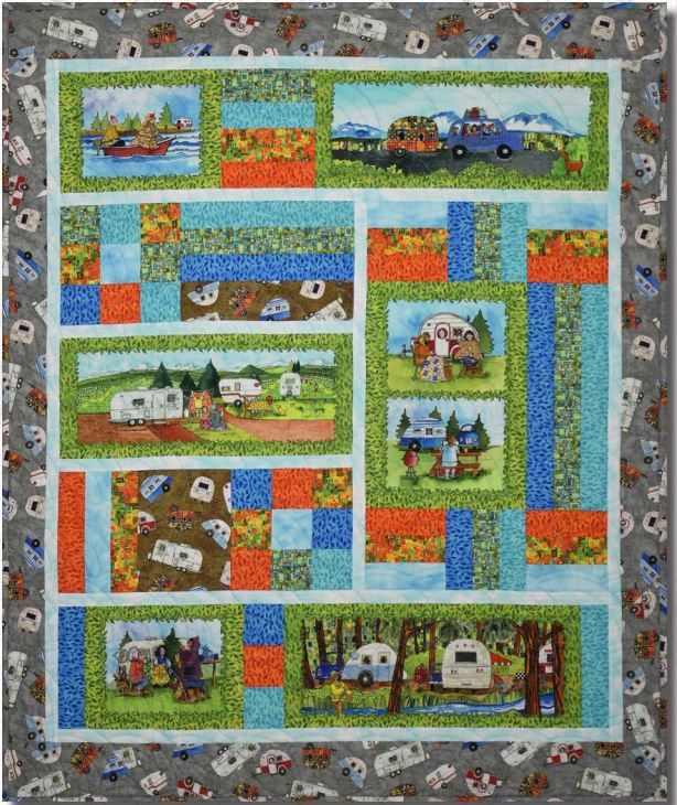 Quilters Road Trip, a fun free quilt pattern by Maywood