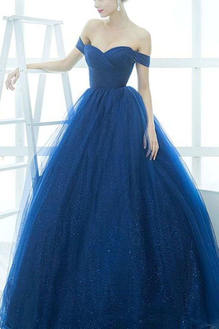 Wedding Blue Gown 17 best ideas about royal blue gown on pinterest long off shoulder prom dress ball sparkly organza evening for