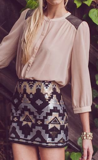 Aztec skirt. My blood sings with the voices of my ancient people calling me.