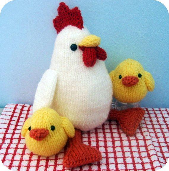 Amigurumi Knits Download : Amigurumi Knit Chicken and Chicks Pattern Set Digital ...