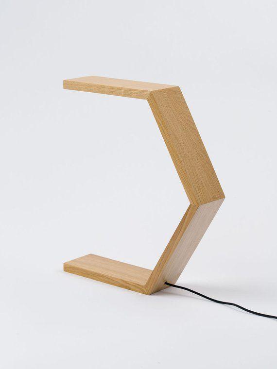 Wood Desk Lamp Bedroom Lamp Bedside Lamp Led Lamp Lights For Indoor Hexagonal Minimalist Design Designer Lamp In 2020 Wood Desk Lamp Wood Lamps Bedside Lamps Led