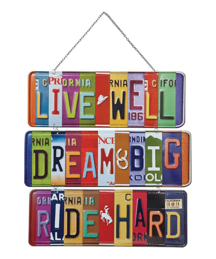 'Live Well' Vanity Plate Wall Sign | zulily