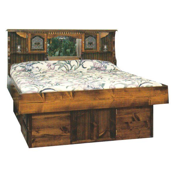 Complete Hard Side Wood Frame Waterbed Comes With Frame Headboard Patented Leak Proof Double Wall Hydro Support Water Bed Water Bed Mattress Waterbed Frame