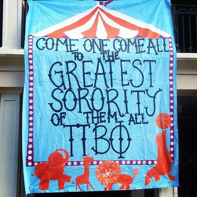 Pi Phi Circus Bid Day Banner | Bows, Pearls & Sorority Girls