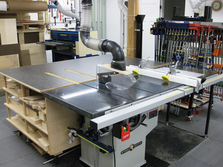 Combination Saw Bench Part - 27: Seanu0027s Well Equipped Shop (Table Saw U0026 Outfeed Table Setup)