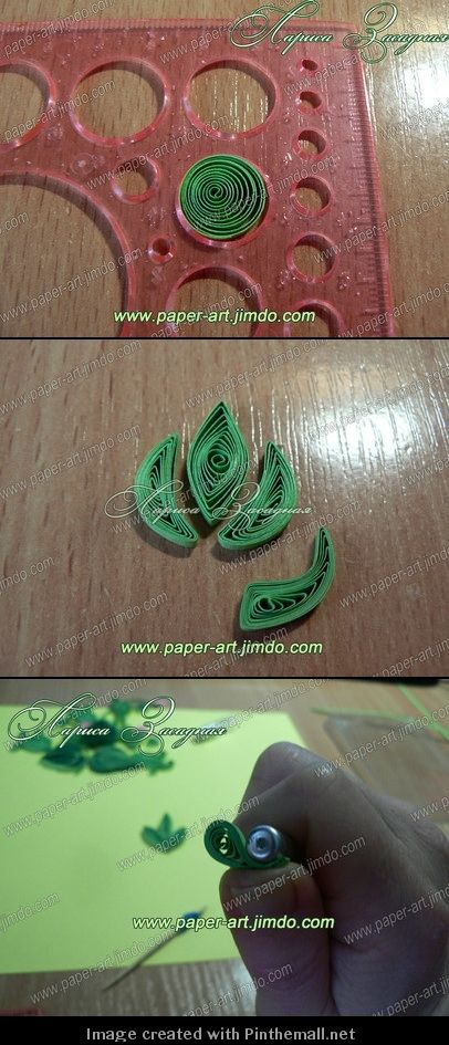 Part 1 of 4---written directions on post---http://paper-art.jimdo.com/мои-мастер-классы/листья/
