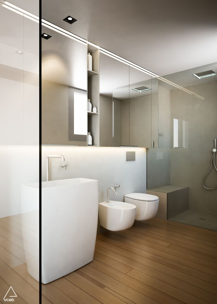 Rendering of a bathroom - Emanuela Berardi 3D Generalist | New house nearby Rimini, Italy – arch. Stefano Zaghini's project  #bathroomdesign #render #rendering #vrayforc4d #vrayrender #cgi #cinema4d #model #lupi #mirror #cea #stefanozaghiniarchitetto #italianstyle #archilovers #architecture