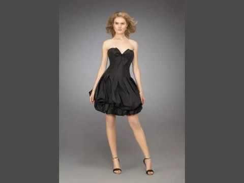 Yeni siyah kısa elbise modelleri 2017 kısa etek modelleri
