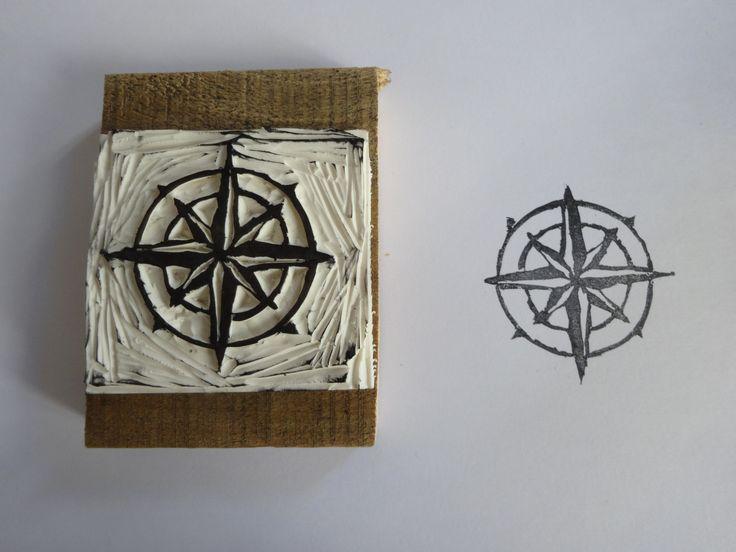 DIY stamp / tampon Rose des vents