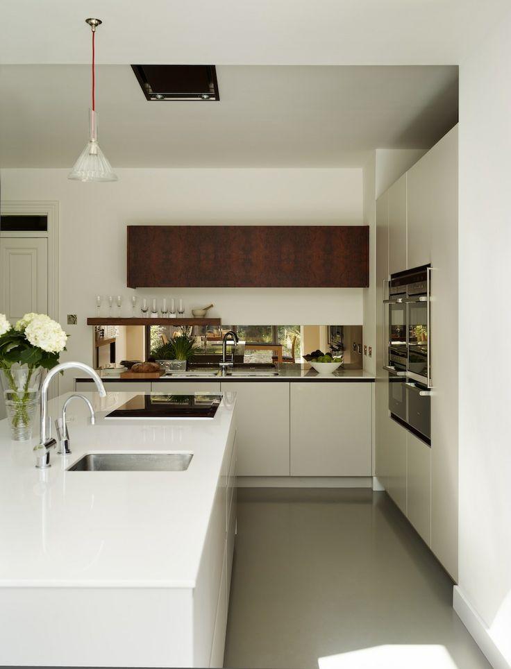 White Kitchen Mirror Splashback 17 best kitchens images on pinterest   modern kitchens