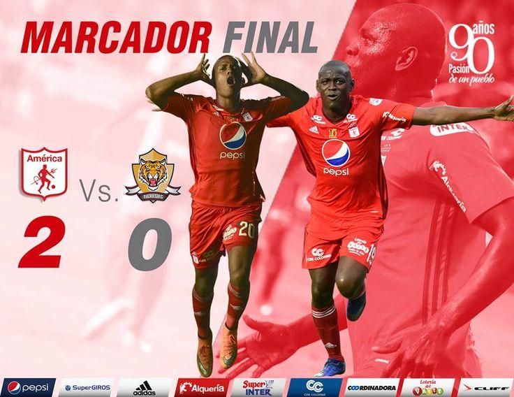 Terminó. Hemos ganado 2-0 a @TigresFCCol gracias a los goles de Martínez Borja y Lucumí y el esfuerzo de todos los demás.