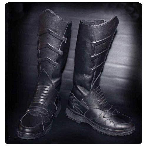 Batman Begins Leather Batsuit Replica Motorcycle Boots ...