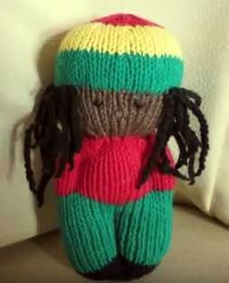 Little Rasta Doll - Videotutorial how to knit