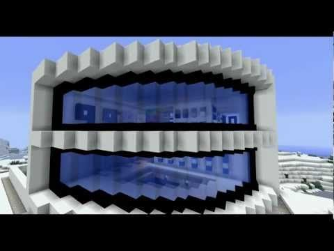 Minecraft homes minecraft modern house hd popscreen for Cool modern buildings