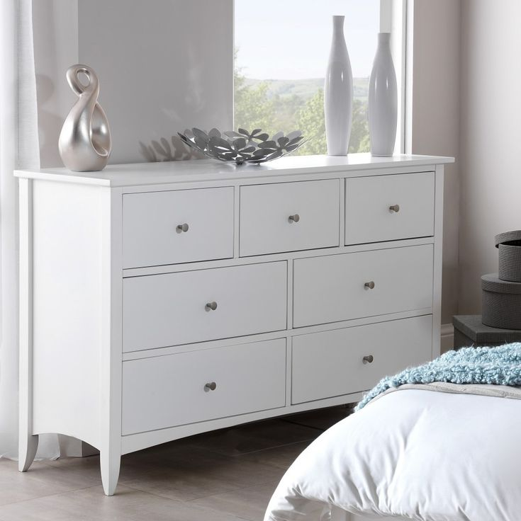 Extra Wide White Chest Of Drawers