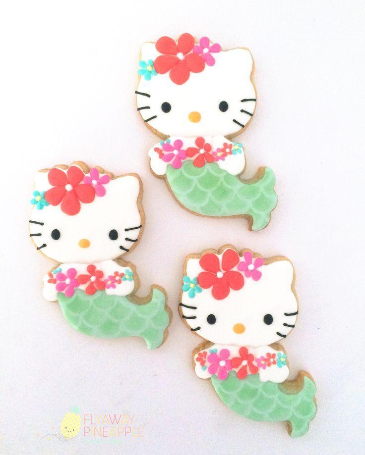 Hello Kitty Mermaid cookies, Hello Kitty, Hello Kitty cookies