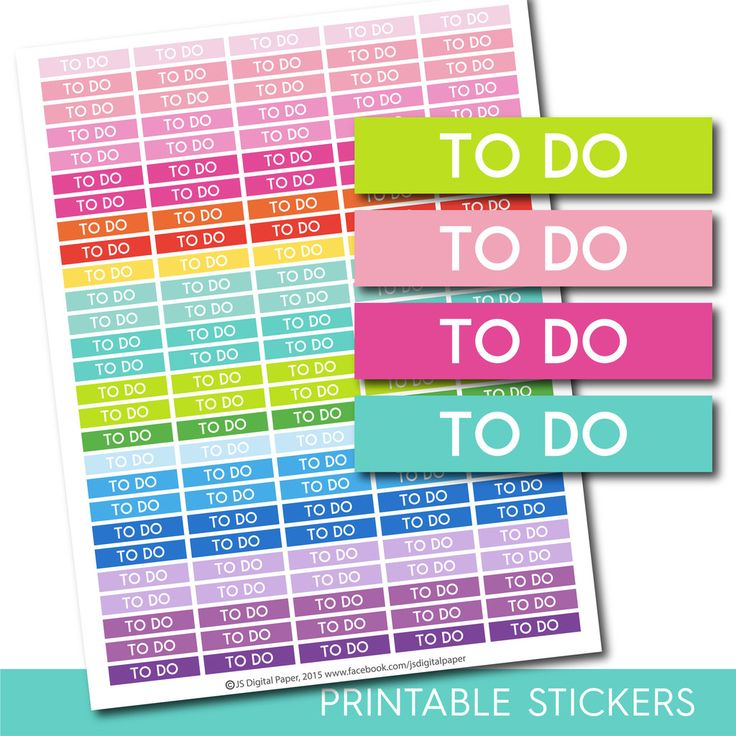 To Do header stickers, To Do planner stickers, To Do printable stickers, To Do…