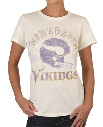 Women's Minnesota Vikings Shirt by Junk Food  This officially licensed Women's NFL shirt by Junk Food features a vintage print of the Minnesota Vikings team helmet along with the year the team was established.    Fabric Details        Color: White      50% cotton / 50% polyester    Our Price: $24.95  - See more at: http://www.oldschooltees.com/Womens-Minnesota-Vikings-Shirt-by-Junk-Food-p/nfl020.htm#sthash.p1uY5X7f.dpuf