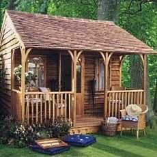 small cabin design...small porches