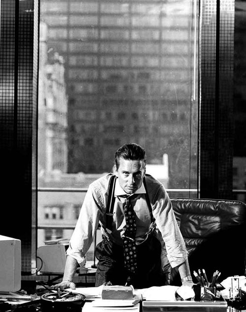 Corporate Pirate: Michael Douglas as Gordon Gekko in Wall Street, 1987. Board, plunder and sink the other company while pretending that reading Sun Ztu and 'The Art of War' makes it okay... (or just add beard, glasses, and rolled up trouser cuffs for instant 'hipster')