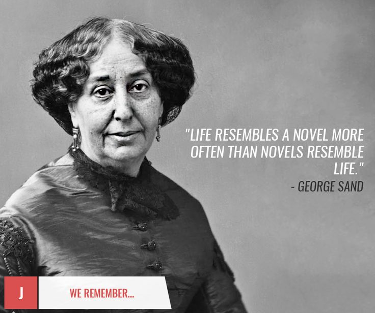 Today we remember #GeorgeSand! Thank you for amazing books!