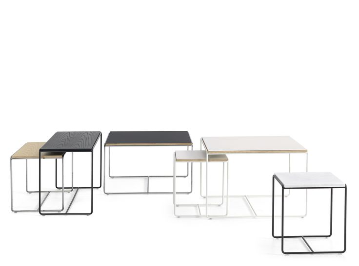Cajal table. A series of small tables in different heights, shapes and materials to complement the Cajal seating series. Design Gunilla Allard. Lammhults.