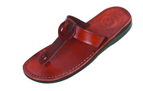 Camel Shoemaker Unisex Outdoor Leather - the Shepherd Style IV - Biblical Sandals - Women style - 38. Genuine Leather Sandals top and base - made in Jerusalem - Sole is Synthetic man made sole designed for comfort. Replica of the Sandals used in Jesus times. Biblical Sandals made in Jerusalem from the finest leather. Christian people all over the world wear them as they do find them fitting their concept of modesty.Great Christian gift and statment. The Biblical sandals are the classic…