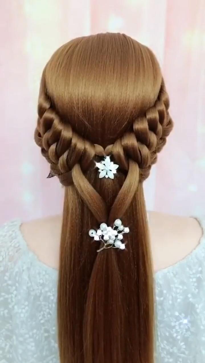 DIY Long Half Up Half Down Prom Wedding Hairstyle Tutorial,Wedding