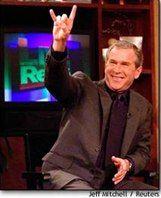 Bush (horned hand / satanic salute)