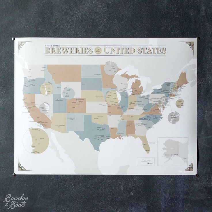 Map Of Oregon Breweries%0A The Noble and Notable Breweries of the United States