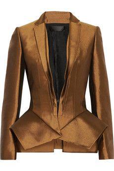 Haider Ackermann Wool and silk-blend peplum jacket | THE OUTNET