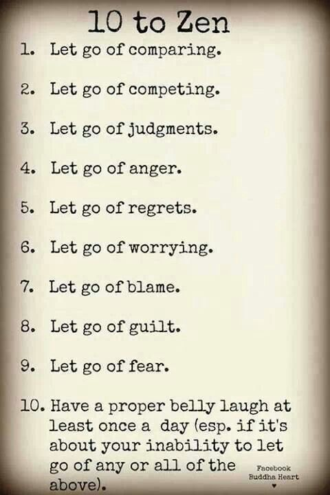 so glad they didn't call this the 10 commandments of zen, because i saw a 10…