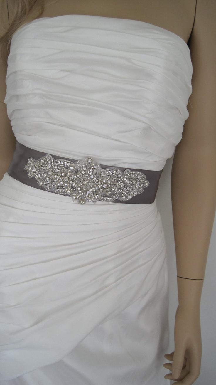 Handmade crystal bridal belt rhinestone pearl luxury wedding dress - Grey Crystal Wedding Dress Belt Sash Belt Rhinestone Bridal Sash Belt Bridesmaid Dress Sash Star