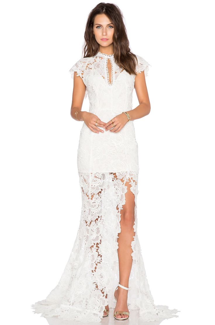 I saw this on Revolve and fell in love. What a perfect wedding dress.