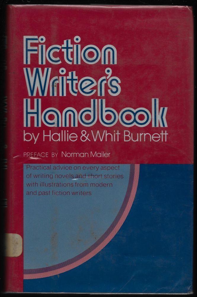 Fiction Writer's Handbook HC Hallie & Whit Burnett 1975 Harper Row Norman Mailer #Textbook