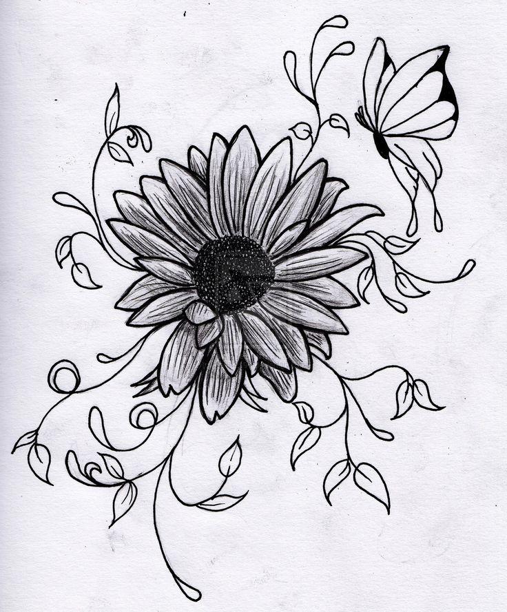 Drawing Flowers Beautiful flower drawings