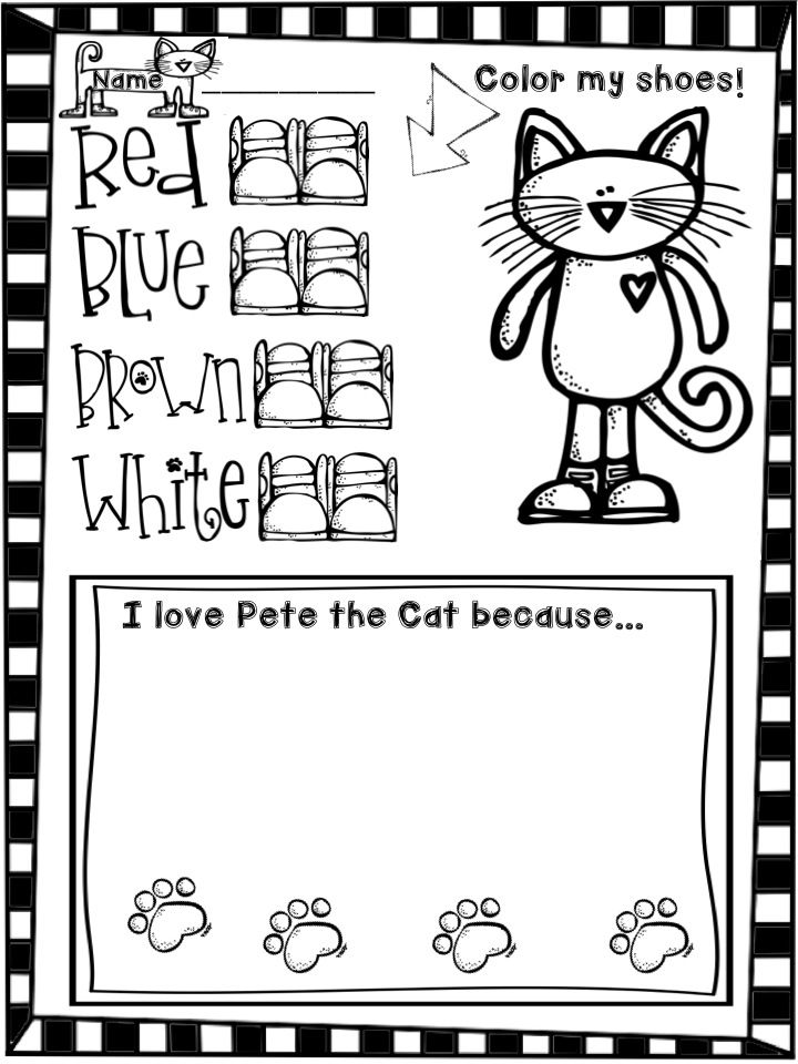 7 best images about Pete the Cat worksheets on Pinterest ...