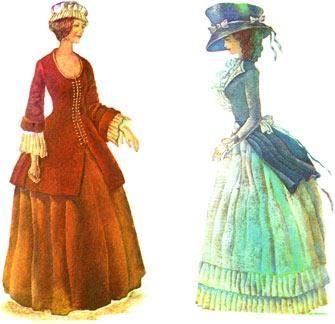 Изображение национального английского костюма 19 века